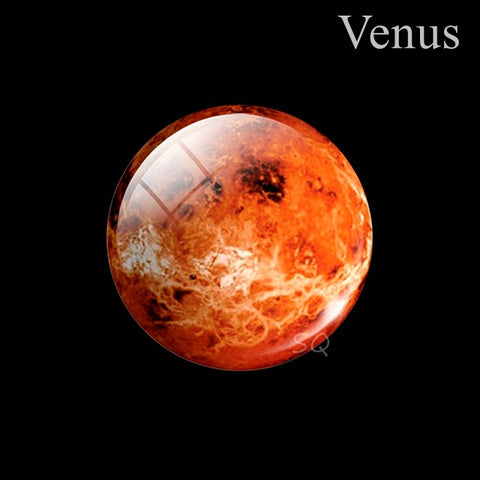 Eight Planets Fridge Magnet Full Moon Earth Solar System Planet Universe Galaxy Nebula Star 30MM Refrigerator Magnets Home Decor