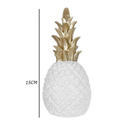 Home Decor Pineapple Ornament Synthetic Resin Individual Metal Finishes