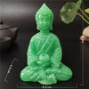 Image of Glowing Meditation Buddha Statue Man-made Jade Stone Ornament Thai Buddha Sculpture Figurines Luminous Home Garden Decoration