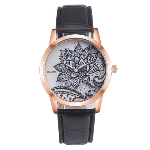 Women Fashion Leather Band Watch