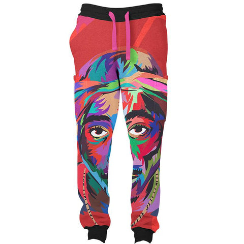 RED TUPAC SWEATS