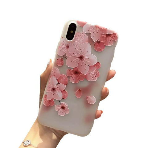 Flower Emboss iPhone Case