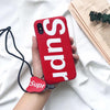 Image of Red Supre iPhone Case