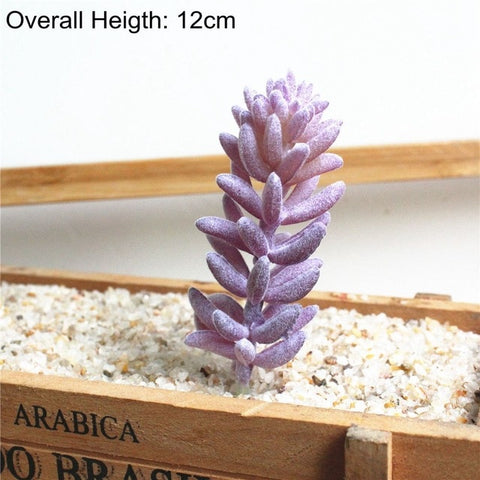 Green Pink Purple Flocking Artificial Succulents Plants Home Garden Decoration Fake Plants Desktop Bonsai Plants