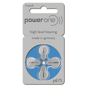Hearing Aid Batteries - power one (Box of 10 sleeves = 40 batteries in total)