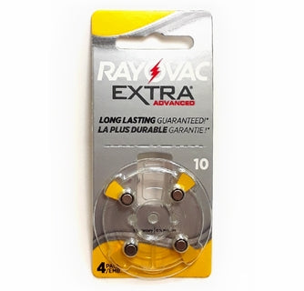 Hearing Aid Batteries - Rayovac (Box of 10 sleeves = 40 batteries in total)