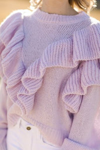 Ruffle on Over Sweater
