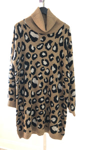 Leopard Lady Sweater Dress