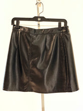Load image into Gallery viewer, Black Patent Leather Wrap Skirt