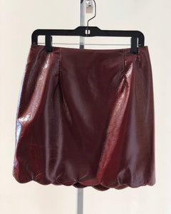 Maroon Foil Scallop Skirt