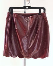 Load image into Gallery viewer, Maroon Foil Scallop Skirt