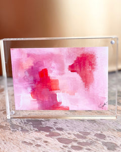 Mini Painting in Lucite 5x7