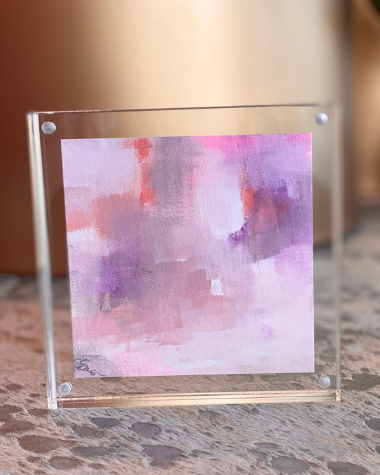 Mini Painting in Lucite 6x6