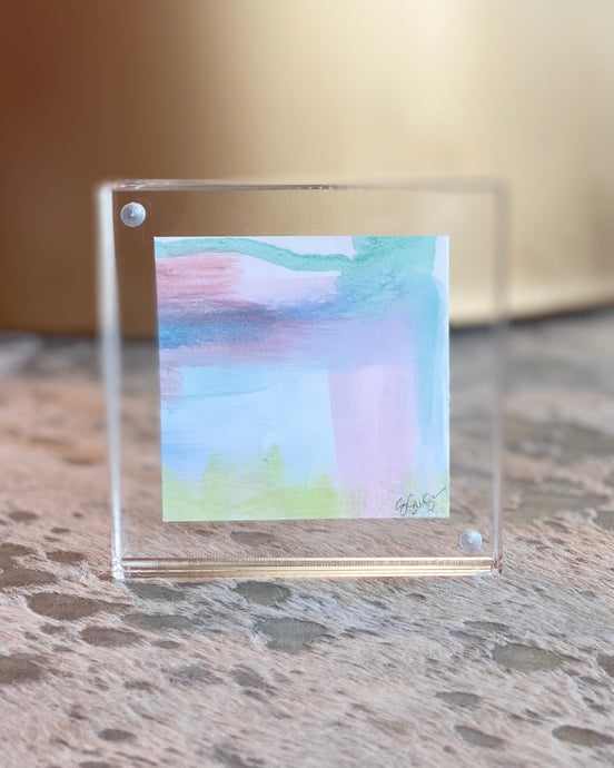 Mini Painting in Lucite 4x4