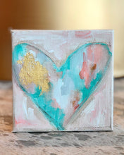 Load image into Gallery viewer, S. Swanson Canvas Mini Heart 4x4