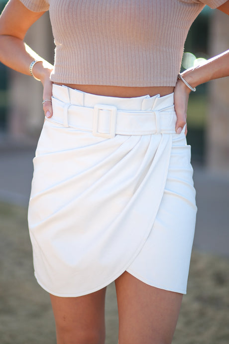 It's All White With Me Skirt
