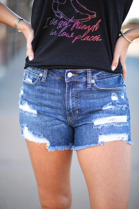 Denim Mid Rise Short