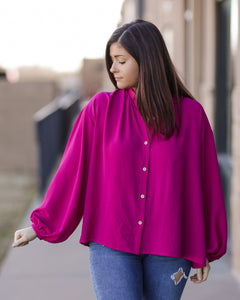 What A Doll Top - Magenta