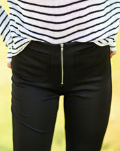 Load image into Gallery viewer, Dani Black Trouser Flare Pant
