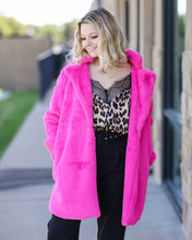 Load image into Gallery viewer, Diana Hot Pink Coat
