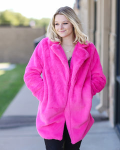 Diana Hot Pink Coat
