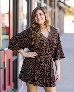 Whitney Leopard Dress