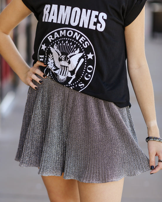 Up Front Metallic Shorts