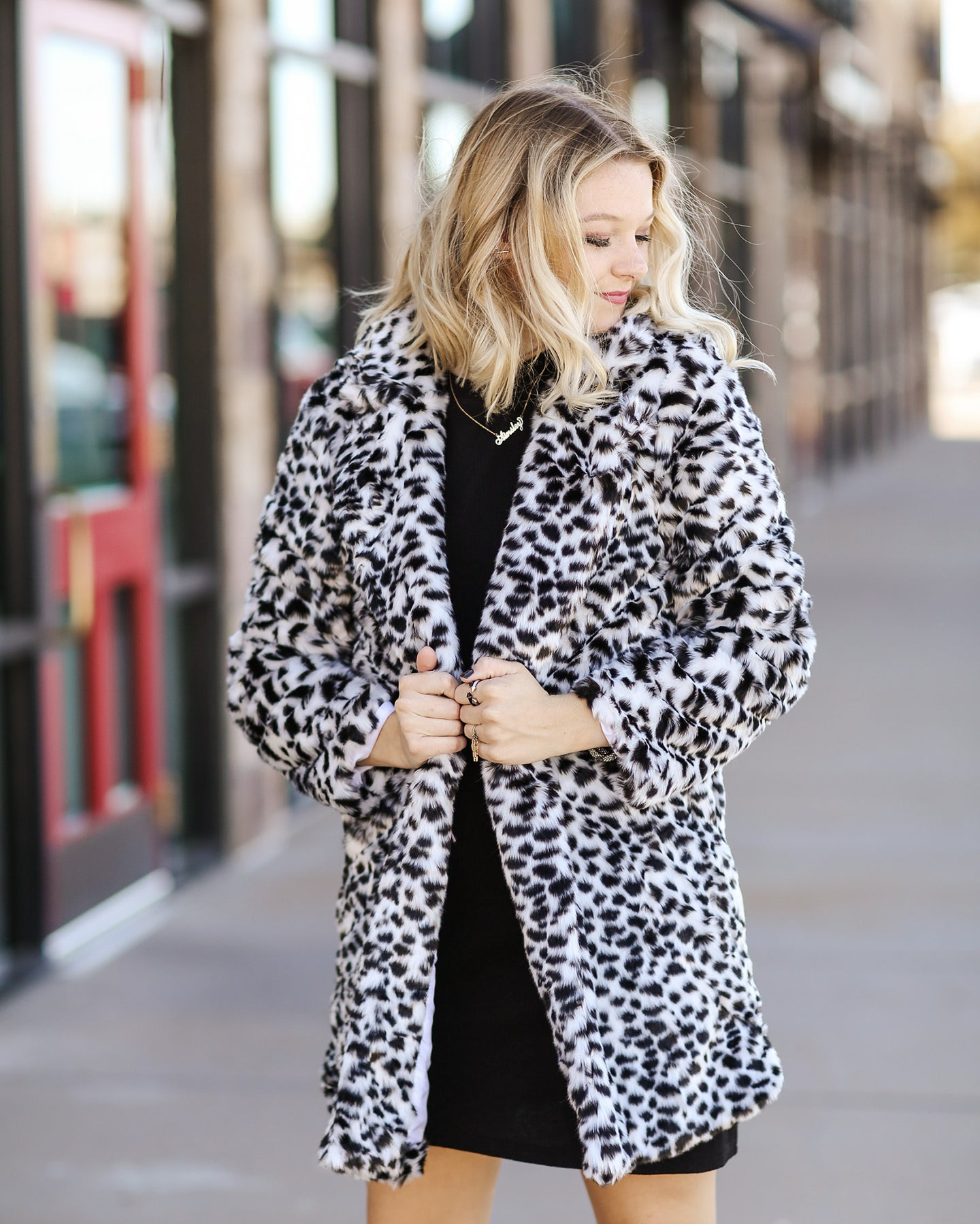 Dalmation Faux Fur Coat