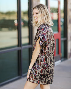 Aretha Sequin Tunic Dress