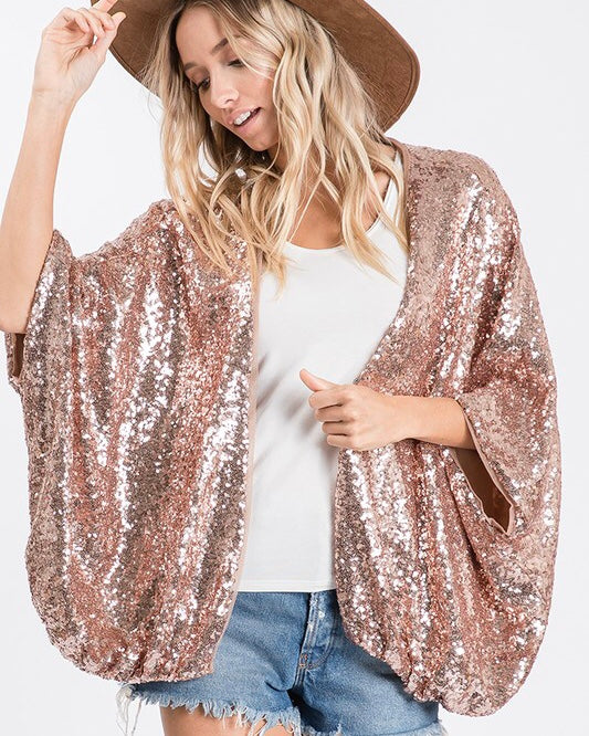 See & Be Seen Sequin Cardigan