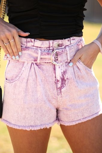 Grape Therapy Denim Shorts