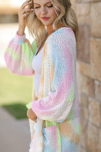 Load image into Gallery viewer, Rainbow Sangria Cardigan