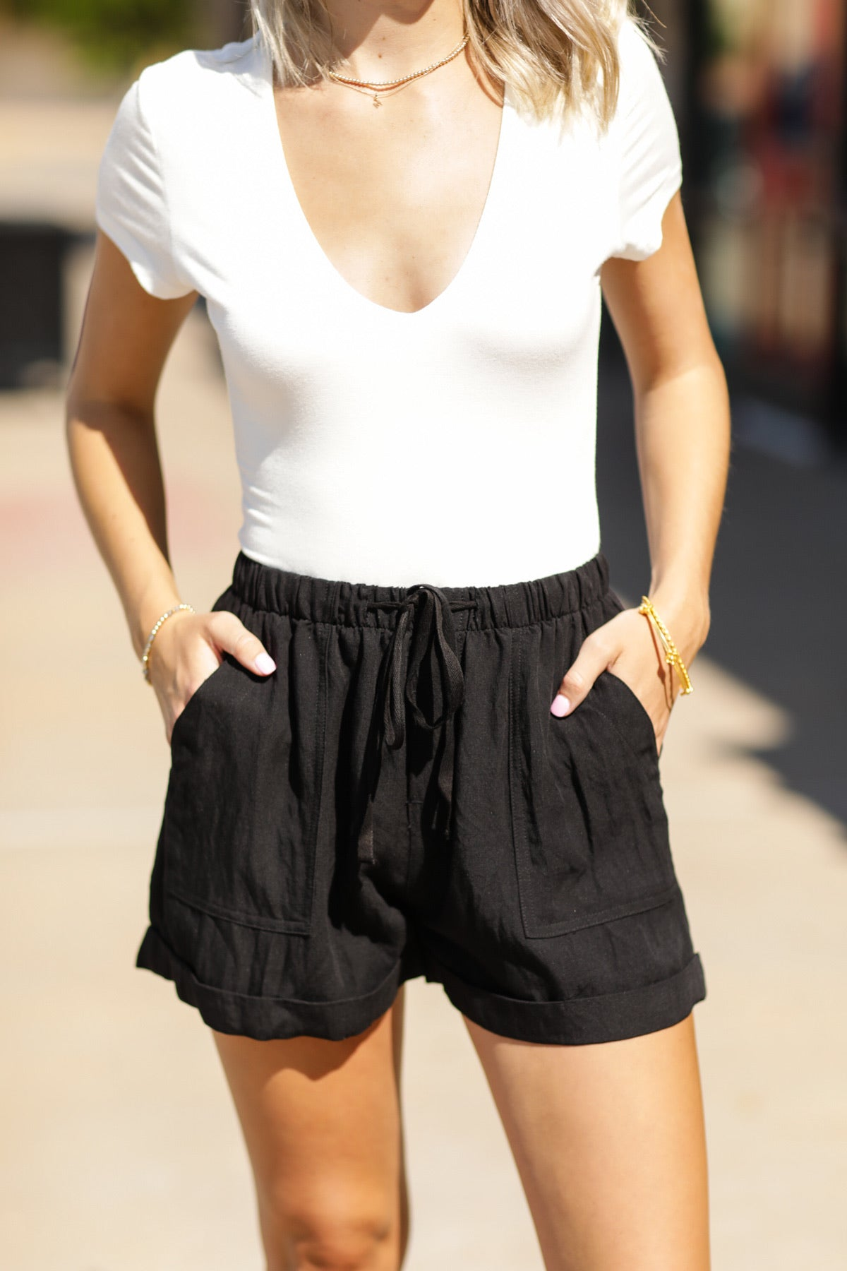 Fresh Linen Short - Black