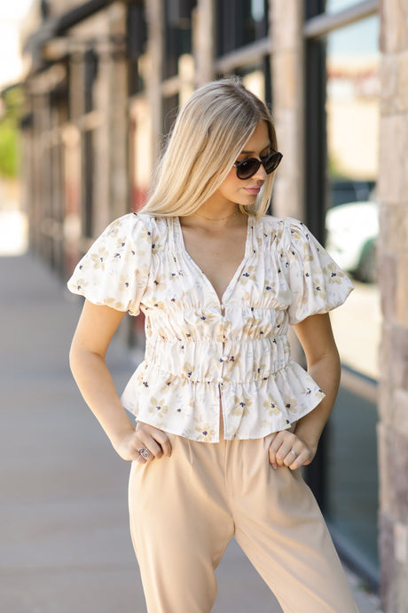 Spring In Your Step Floral Top