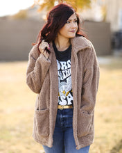 Load image into Gallery viewer, Sherpa Teddy Bear Coat - Toffee