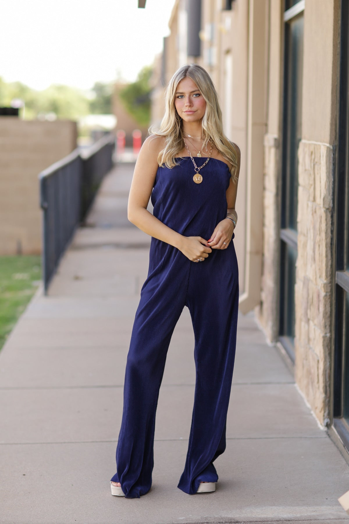 Downtown Pleated Jumpsuit