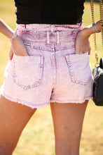 Load image into Gallery viewer, Grape Therapy Denim Shorts