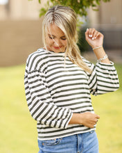 Load image into Gallery viewer, Canyon Stripe Peasant Top