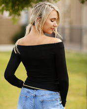 Load image into Gallery viewer, Off Shoulder Long Sleeve Tee