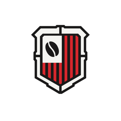 DEFENDER COFFEE SHIELD LOGO STICKER