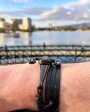 Black Anchor Bracelet On Wrist