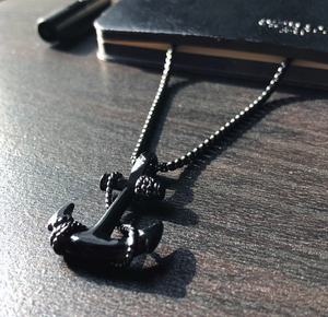 Black Anchor Necklace Study