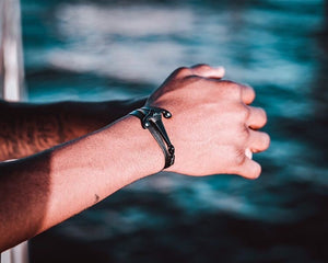 Black Anchor Bracelet by Ocean