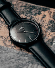 Classic Watch Black on Map