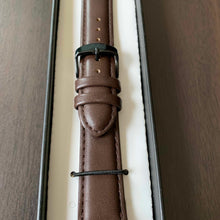 Brown Vegan Leather Watch Strap for Black Watches