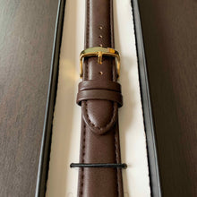Brown Vegan Leather Watch Strap for Gold Watches