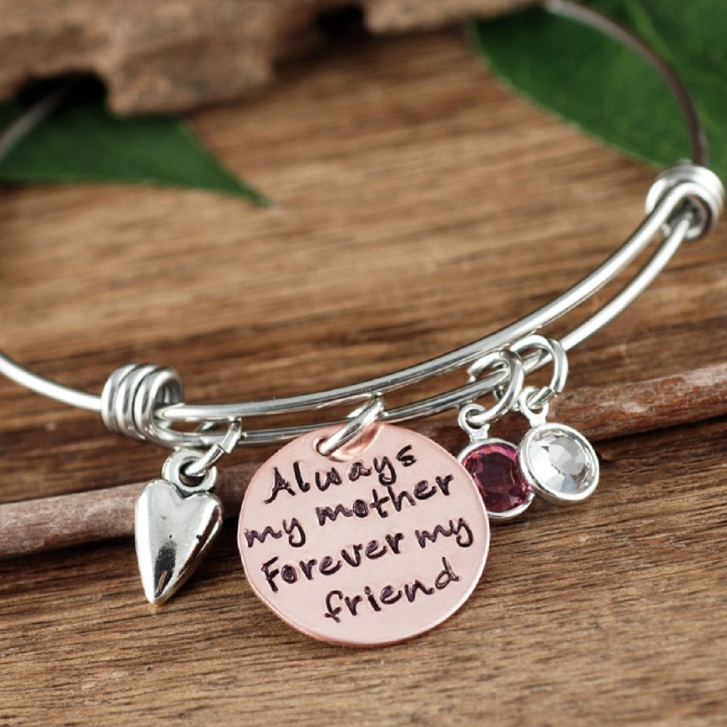 'Always My Mother, Forever My Friend' Bangle Bracelet