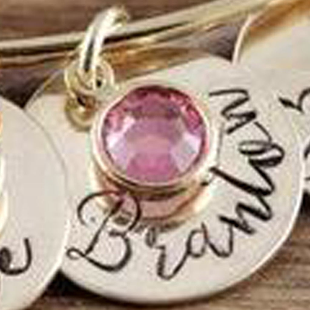 Add On Name Charm with Birthstone