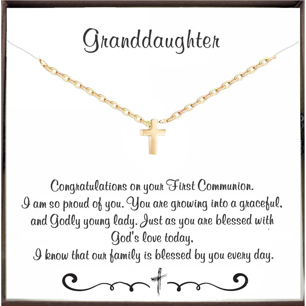 To my Granddaughter - First Holy Communion Necklace