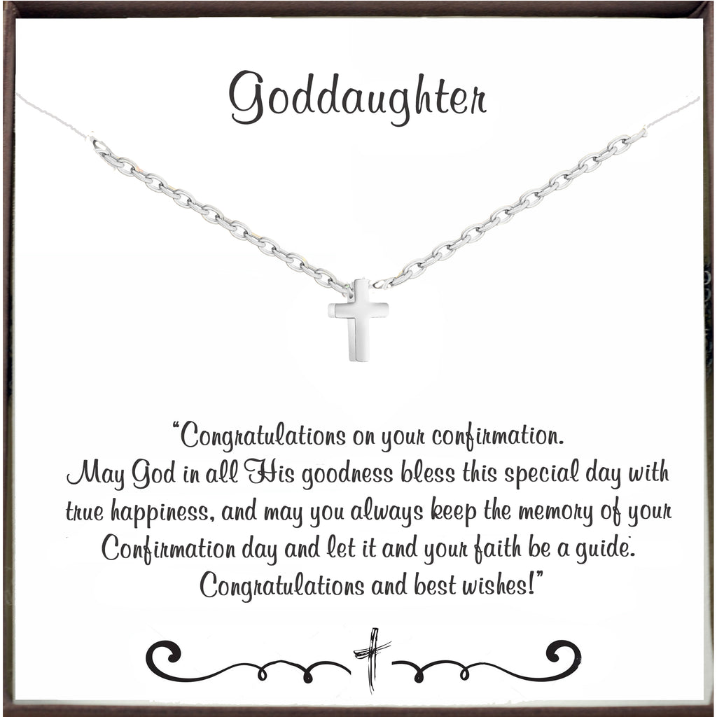 To my Goddaughter - Confirmation Necklace with Cross